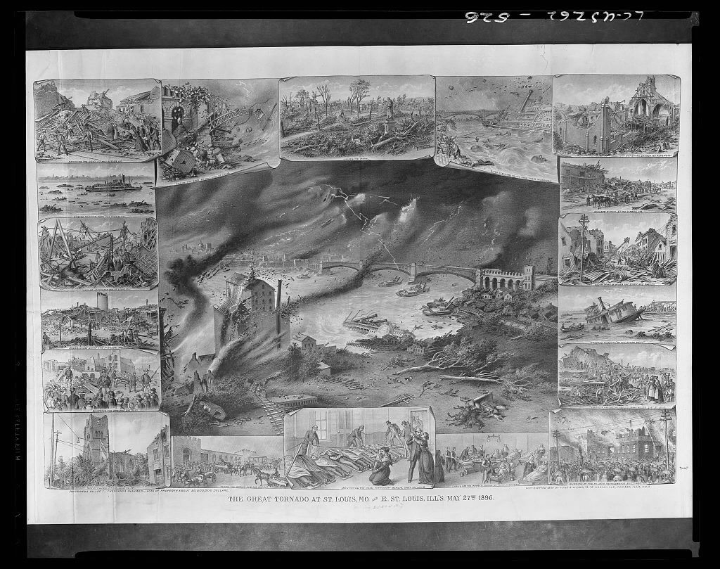 the great tornado of st.louis missouri and east st louis 1896